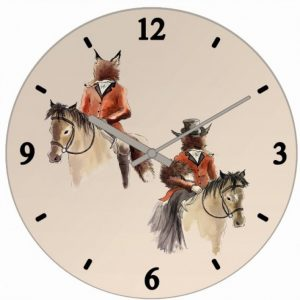 Mister and Lady Fox Clock