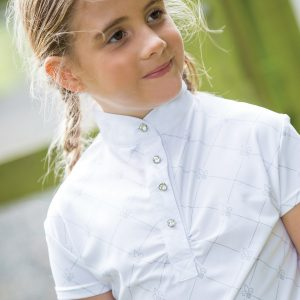 Childrens Equetech Fleur Competition Shirt