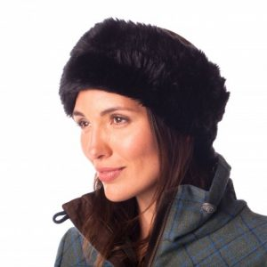 Dubarry Fur Headband – Black