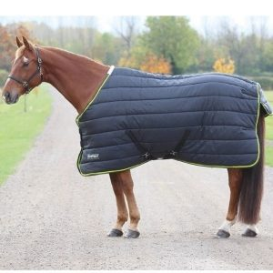 Shires Tempest 300 Stable Rug – Black/Lime