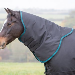Shires Tempest Plus 300 Neck Cover – Black/Teal