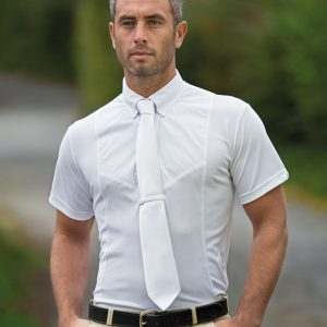 Mens Shires Short Sleeve Tie Shirt
