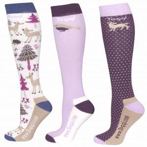 Toggi Corbet Ladies Three Pack Socks – Winter White