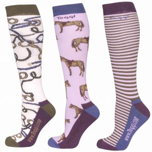 Toggi Davenport Ladies Three Pack Socks – Winter White