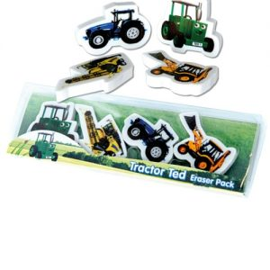 Tractor Ted Shaped Rubber Set