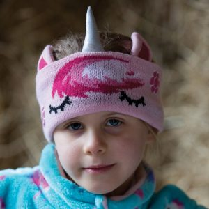 Equetech Childs Unicorn Knit Headband – Pink