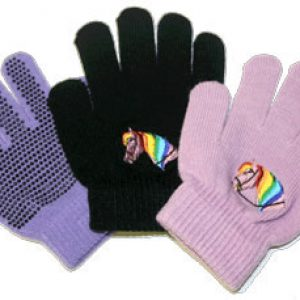 Magic Stretch Kids Gloves Horse Head Pattern