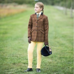 Childrens Equetech Marlow Deluxe Tweed Riding Jacket