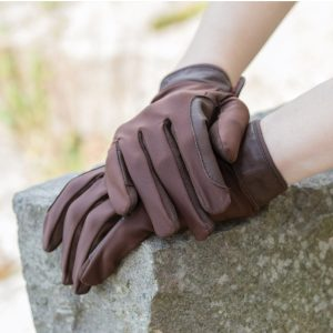 Equetech LCG Adults Stretch Show Glove – Brown