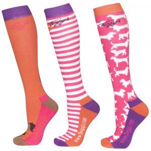 Toggi Lilith Ladies Three Pack Socks – Jaffa