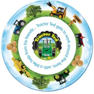 Tractor Ted Plate – Farm Design