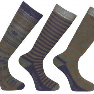 Toggi Redgrave Mens Three Pack Socks Fairisle Design