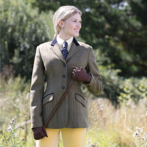 Ladies Equetech Stowe Deluxe Tweed Riding Jacket