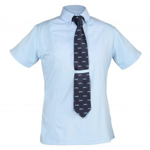 Shires Ladies Short Sleeve Tie Shirt
