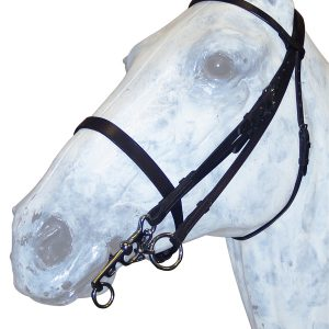 Double Bridle Snaffle with Leather Reins