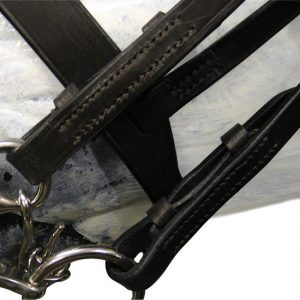 Double Bridle – English Leather Raised with Reins