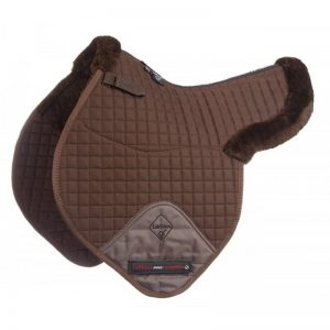 LeMieux Pro Lambswool Close Contact Numnah Half Lined – Brown