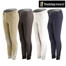 Ladies Tredstep Symphony Nero Knee Patch Breech