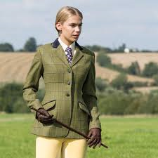 Ladies Equetech Adstock Deluxe Tweed Riding Jacket