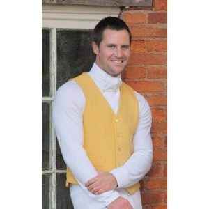 Mens Shires Clifton Waistcoat – Yellow