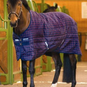 Rhino Original Stable Rug- Navy/Red Check