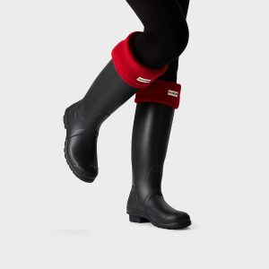 Hunter Welly Sock – Military Red