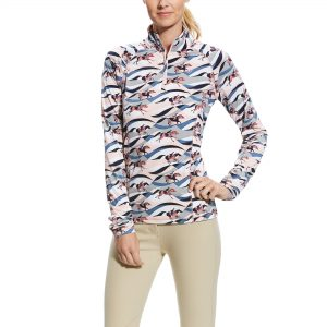 Ariat Ladies Lowell 2.0 1/4 Zip – Flow Print