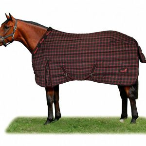 Masta Regal Stable Rug- Black/Red