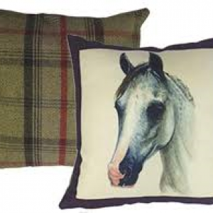 Grays Portraits Cushion With Tweed Reverse