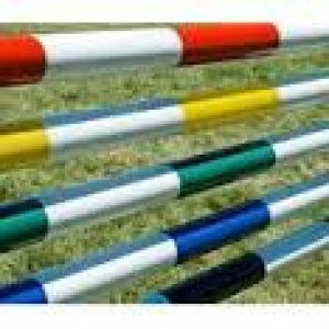 5 Band Painted Showjumping Poles