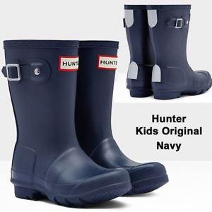 Hunter  Kids Wellington Boot – Navy