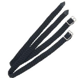 Shires Black Plaited Nylon Spur Straps