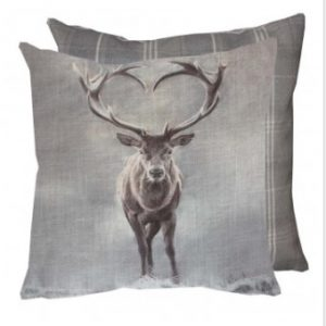 Grays Stag Cushion With Tweed Reverse